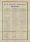 AFFICHE_D_52 Aan de Nederlandse Werkgevers en Werknemers, 30 november 1950