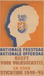AFFICHE_E_08 31 augustus 1945 NATIONALE FEESTDAG NATIONALE OFFERDAG, 1945-'46