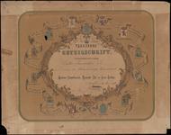 DIPLOMA_015 VEREEREND GETUIGSCHRIFT uitgereikt aan Pieter Veenenbos Jszoon, 30 maart 1876