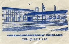 SZ1704. Verenigingsgebouw Zuidland.