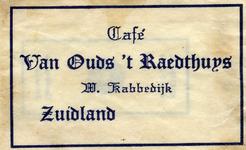 SZ1712. Café Van Ouds 't Raedthuys.