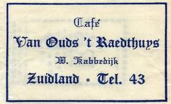 SZ1713. Café Van Ouds 't Raedthuys.