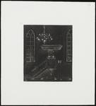 SPUIJBROEK_173 Preekstoel in de kerk van Nieuw-Helvoet, ca. 1955