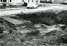 AB_KOMWEISINGEL_004 Opgraving van de fundamenten van de vroegere woontoren van Abbenbroek; 16 februari 1968