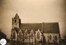 AB_WATERSNOODRAMP_059 Het kerkgebouw in het water; ca. 4 februari 1953