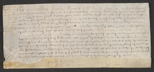 CHV-759 Brief van keurschepenen der landvierschaar te Veere. Overdracht van een huis, schuur, stalling etc. met 160 ...