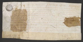 CHV-762 Brief van keurschepenen der landvierschaar te Veere. Verbandbrief op 2 gemeten en nog 2 gemeten 22 roeden in ...