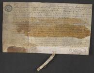 CHV-765 Brief van keurschepenen der landvierschaar te Veere. Verbandbrief op een huis in Vrouwenpolder en 2 gemeten 247 ...