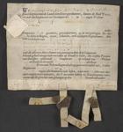 CHV-767 Brief van keurschepenen der landvierschaar te Veere. Overdracht van 2 gemeten 14 roeden zaailand in ...
