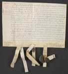 CHV-771 Brief van keurschepenen der landvierschaar te Veere. Overdracht van een stuk zaailand groot 1 gemet 81 roeden ...