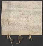 CHV-775 Brief van keurschepenen der landvierschaar te Veere. Overdracht van 17 gemeten 259 roeden wei- en zaailand in ...