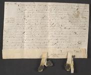 CHV-776 Brief van keurschepenen der landvierschaar te Veere. Overdracht van 2 gemeten 131 roeden weiland in ...