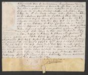 CHV-779 Brief van keurschepenen der landvierschaar te Veere. Overdracht van 7 percelen weiland te samen groot 10 ...