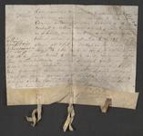 CHV-781 Brief van keurschepenen der landvierschaar te Veere. Overdracht van 4 percelen land te samen groot 4 gemeten ...