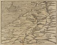 166 Kaart van Vlaanderen rond 1300.Uit Duitse uitgave: Das Ander Buch, hoofdst. 69 (von dem Landt Flandern), p. 166 ...