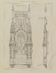 192 Een travee met gravenbeelden aan het stadhuis aan de Grote Markt te Middelburg, met details