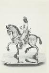 A-1775 Zilveren ruiterbeeld, voorstellende Koning-stadhouder Willem III te paard (Franse makelij) en afkomstig uit de ...