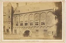 B-1362 Het Provinciaal Archief aan het Abdijplein te Middelburg, met de Balanspoort