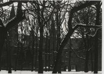 B-1919 Gezicht op het Abdijplein te Middelburg in de winter