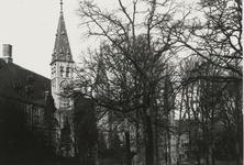 B-1924 Gezicht op een deel van de gevels aan het Abdijplein te Middelburg