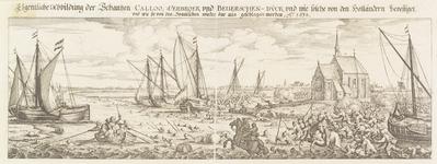 H-17 Bezetting van de schansen Kallo, Verbroek en Beverse dijk aan de Schelde door de Staatse troepen en de verdrijving ...