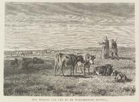 H-19 Fantasievoorstelling van Norbertijnen uit de Abdij van Middelburg, die vee weiden in de duinen van Walcheren, met ...