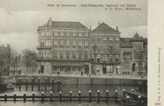 P-986 Gezicht op Hotel Du Commerce te Middelburg.