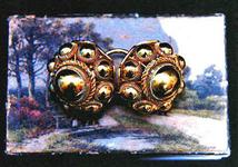 STR-17-11 1 paar gouden Zeeuwse keelknoppen