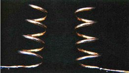 STR-17-8 1 paar gouden krullen