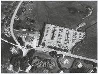389 Hotel Duinoord met parkeerplaats bij Vrouwenpolder vanuit de lucht