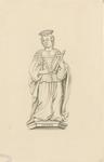 1063b Johanna van Halewijn, echtgenote van Hendrik van Borssele, overleden 31 december 1467, met oorkonde in koker