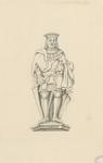 1063c Hendrik van Borssele IV, overleden 15 maart 1474, met oorkonde in koker en zwaard