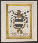 1064e Het (gehelmd) wapen van Wolfert van Borssele VI(I), overleden 29 april 1486, met Gulden Vlies, (voorheen) op een ...