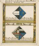 1064f De wapens van Charlotte van Bourbon, tweede echtgenote van Wolfert van Borssele, en Anna van Borssele, overleden ...
