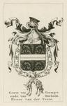1065b Het (gehelmd) wapen van Wolfert van Borssele VI(I), overleden 29 april 1486, met Gulden Vlies, (voorheen) op een ...