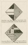 1065c De wapens van Charlotte van Bourbon, 2e echtgenote van Wolfert van Borssele, en Anna van Borssele, overleden 8 ...