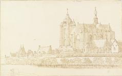 1085 Gezicht op de Grote Kerk te Veere en omgeving, vanuit het zuidoosten