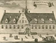 1103 Het Gasthuis te Veere, met voorbijgangers