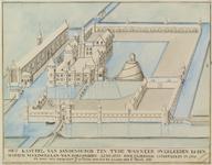1123 Gezicht op het kasteel Sandenburgh te Veere bij Zanddijk