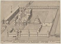 1124 Gezicht op het kasteel Sandenburgh te Veere bij Zanddijk