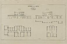 115 Ontwerp van een hotel te Domburg in opstand en plattegrond