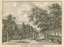 119-1 Gezicht in het dorp Grijpskerke, met timmermannen aan het werk
