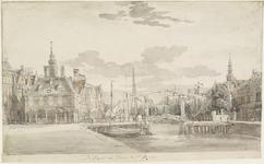 1196 Gezicht op de Beurs en de haven te Vlissingen