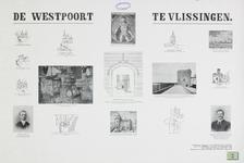 1220 Afbeeldingen (met plattegrond, situatie) van de Gevangenpoort of Westpoort te Vlissingen, voor en na restauratie ...