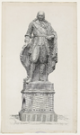 1224 Het standbeeld door L. Royer van Michiel Adriaensz. de Ruijter (1607-1676), admiraal, te plaatsen in Vlissingen, ...