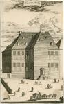 1257 Gezicht op het Prinsenhuis te Vlissingen, afgebrand in 1749, met voorbijgangers
