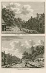 1353 Twee gezichten in het dorp Baarland, met toren van de Nederlandse Hervormde kerk, en personen, op één plaat