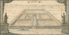 138 Gezicht op het hof van de heer van Vossemeer, Johan Huyssen van Kattendijke, schepen van Middelburg, te Poppendamme ...