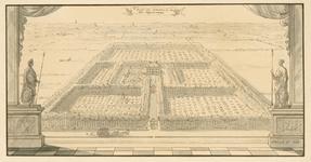 139 Gezicht op het hof van de heer van Vossemeer, Johan Huyssen van Kattendijke, schepen van Middelburg, te Poppendamme ...