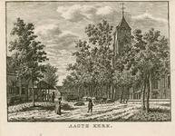 14 Gezicht op het dorpsplein en de kerktoren van Aagtekerke